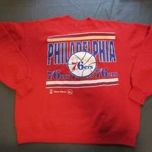 Vintage Philidelphia 76ers Sweater Size XL